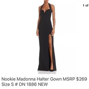 Nookie dials up the after-dark halter gown Small